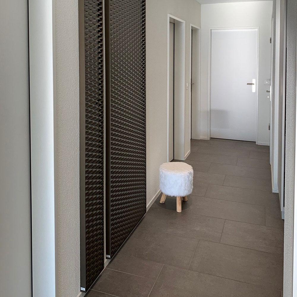 Wanddeko Metall Korridor